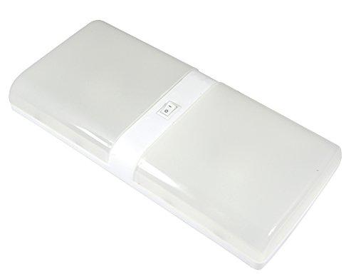 Facon 6W LED Paquete doble Luz luces de porche techo de luz de techo con interruptor de encendido / apagado para autocaravana, caravana, remolque, barco, marinos y vehículos