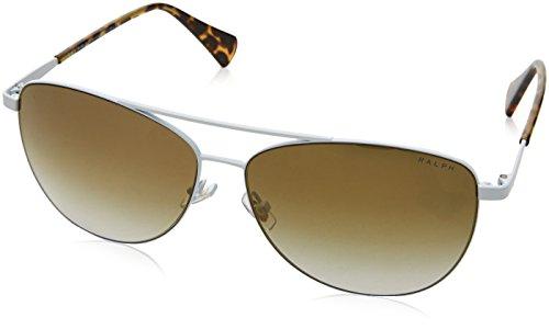 Ralph Lauren Ralph by Damen 0RA4122 32356U 59 Sonnenbrille, White/Browngradientflashmirror,