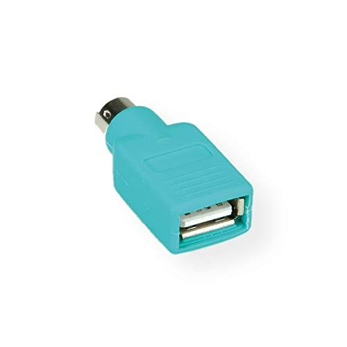 Value 12991072 PS/2 USB Maus-Adapter grün -