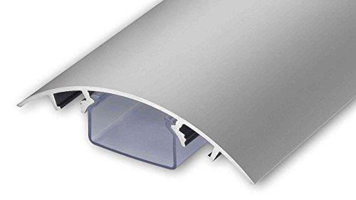 Alunovo - Canaleta para cables (40 cm), color plateado mate