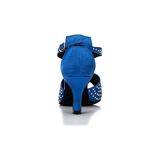 Miyoopark ,  Damen Tanzschuhe Blue-7.5cm heel