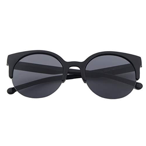 WEIWEITOE Modisches design unisex klassische runde form kreis rahmen halbrandlose sonnenbrille brillen outdoor männer frauen sonnenbrille, schwarz,