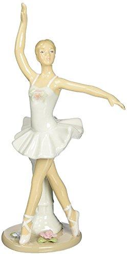 Cosmos 10627 Fine Porcelain Ballerina En Pointe Position Figurine, 7-1/4-Inch (Pointe Ballerina)