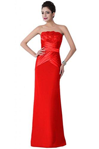 Sunvary classica elasticizzata, colonna senza Wedding Guest vestiti Pageant vestiti Red