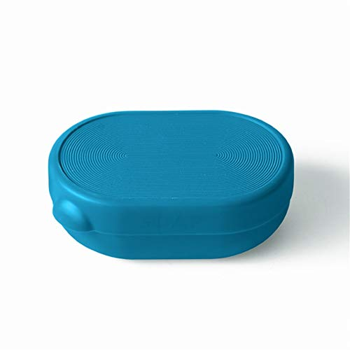 MEIBATH Reisen Portable mit Deckel Wasserdicht und Dicht Ablassen 12,6 * 8,7 * 4.6CM Blau Seifenschalen/Halter für Dusche Badezimmer & Küche Eitelkeit Top (Mit Tops Eitelkeiten)