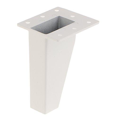 Weiß Manuelle Auswahl (Gazechimp Möbelfüße Schrankfüße Metall , Farben und Größe Auswahl - Weiß, 10cm)