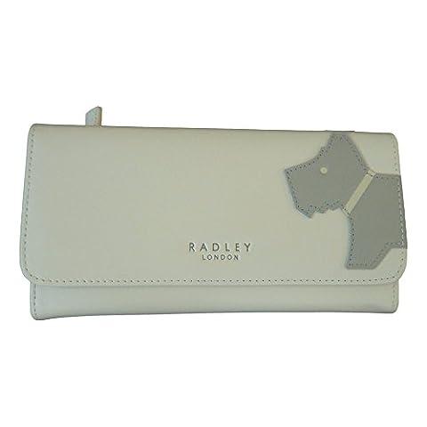 RADLEY 'Mono Dog' Ivory Large Leather Trifold Purse - RRP £75
