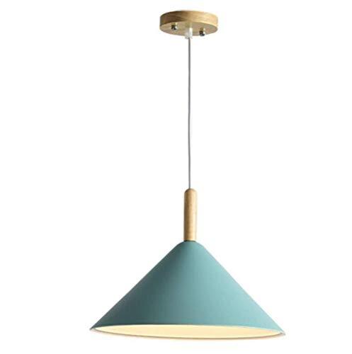 Wandlampenblaue Pendelleuchte Aluminium Kegel Schatten Pendelleuchte Höhenverstellbar E27 1 Licht Anhänger Küche Küche Insel Shop Esszimmer Loft Bar Schlafzimmer -