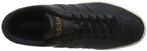 adidas Vlcourt Vulc, Scarpe da Ginnastica Uomo Nero (Negbas/Negbas/Madera)