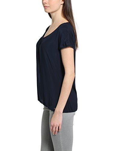 Berydale Damen Kurzarm-Shirt, doppellagig mit Netzstoff Blau (Navy)