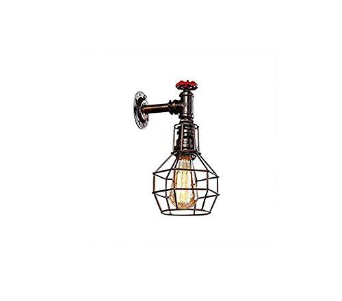 Retro Lichtwall-Licht-Lampen-Wand-Leuchter-Befestigungs-Käfig-Rohr führte Licht mit Flaschen-Schatten für Hausschlafzimmer-Flur-Wohnzimmer-Bar-Gaststätte-Kaffeegeschäft-Verein-Dekoration