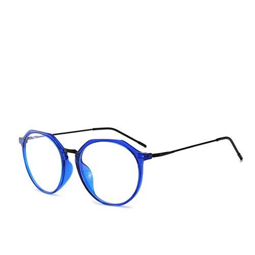 Mkulxina Neue übergroße Brillenfassung mit Anti-Blue-Light-Brille für Männer und Frauen ohne Verschreibungspflicht (Color : Blue)