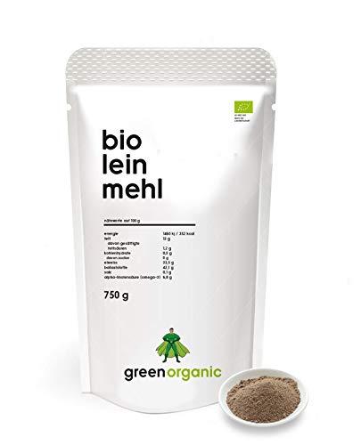 BIO PREMIUM LEINSAMENMEHL - Lower-Carb, glutenfrei, vegan, entölt, eiweißreich, ballaststoffreich, Diät-geeignet, Pflanzen-Protein, paleo, fair und nachhaltig aus Deutschland, 750 g