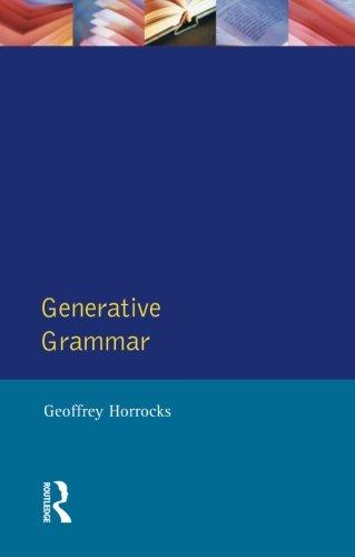 Generative Grammar (Longman Linguistics Library)