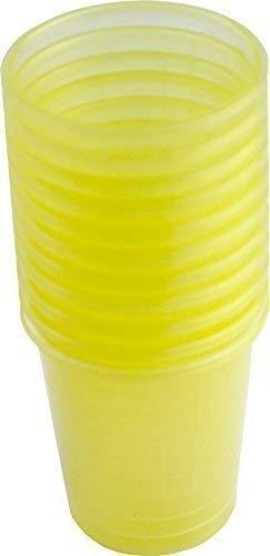 80 Stück Medikamentenbecher Medizinbecher Schnapsbecher Premium von Medi-Inn Farbe: (gelb)