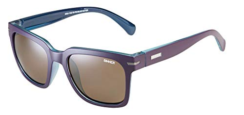 SINNER Polarisierte Sonnenbrille Damen Wayfarer Braun/Lila - Blue Water by As I Am.