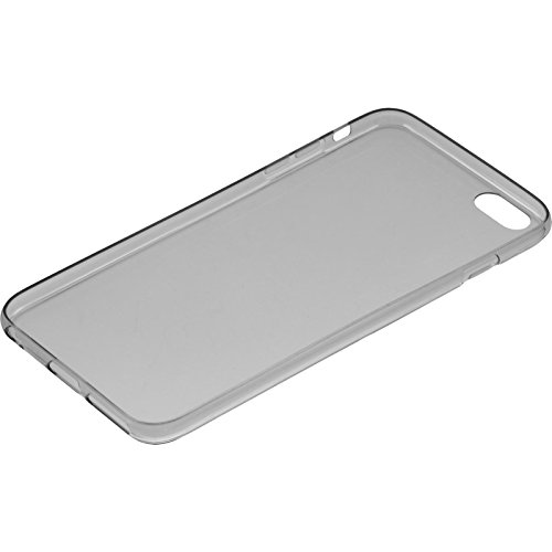 Coque en Silicone pour Apple iPhone 6 Plus / 6s Plus - Slimcase transparent - Cover PhoneNatic Cubierta + films de protection gris