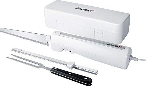 *Steba Elektromesser EM 3, ergonomisches Gehäuse für eine komfortable Bedienung, inkl. Universalmesser & Brotmesser, hochwertige Ausstattung mit Aufbewahrungsbox & Edelstahl Fleischgabel*