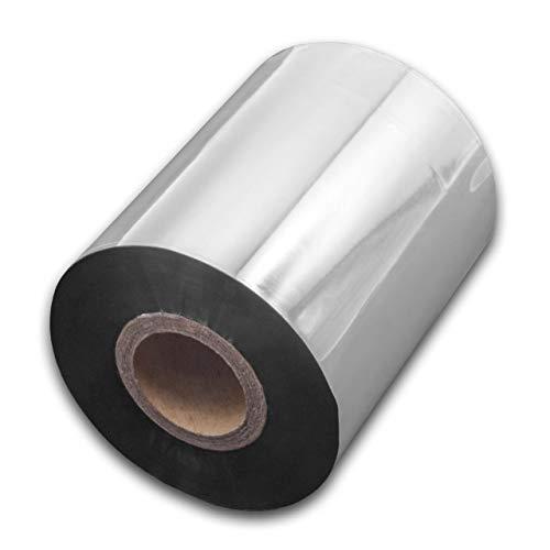 vhbw wischfest Thermotransfer-Band schwarz 80mm 300m für Drucker Etikettendrucker Citizen CLP-621, CLP-631, CLP-7201e, CLP-8301, CLP-9001