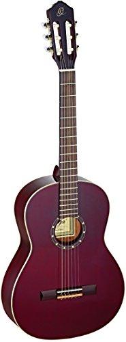 Ortega R131SN-WR Konzertgitarre in 4/4 Größe mit schmalem 48mm Hals transparent weinrot im hochglänzenden Finish hochwertigem Gigbag