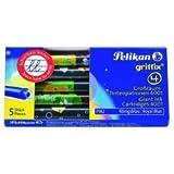 Pelikan 960542 - Tintenpatronen Tiere 5 Stück lang für Griffix Füllhalter