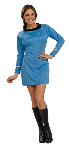 Star Trek Kleid blau für Erwachsene - Gr. (Blue Kostüme Star Trek)