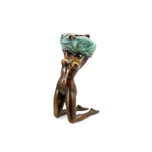 Kunst & Ambiente - Erotische Bronzefigur - Stripperin Figur - signiert Aldo Vitaleh - Sexy Skulptur - Frauen Akt - Akt Büste
