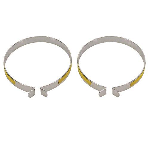 M-Wave Reflektierende Stahl Hosen-Bands, Neon Gelb, 120964, Neongelb, Einheitsgröße