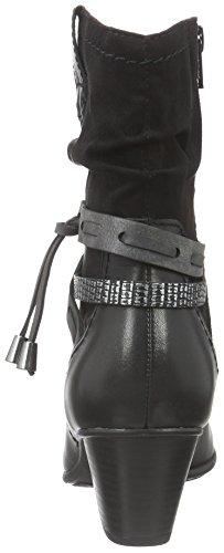 Jana Damen 25327 Biker Boots Schwarz (Black 001)