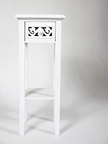 Romantic Telefontisch / Beistelltisch / Anrichte weiß, Landhausstil, mit Shabby-Chic-Look (Telefon-beistelltisch)