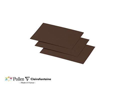 Clairefontaine Pollen mit Blättern, Karten und Umschlägen 70 x 95 mm, Karte, 210 g Kakaofarben