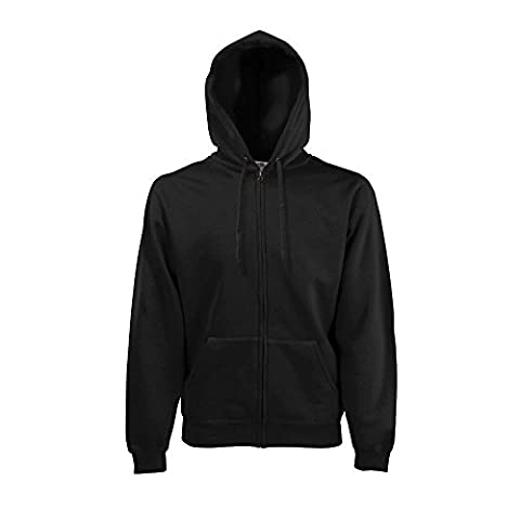 Fruit of the Loom - Hooded Sweat Jacket - Modell 2013 / Black, XL XL,Black