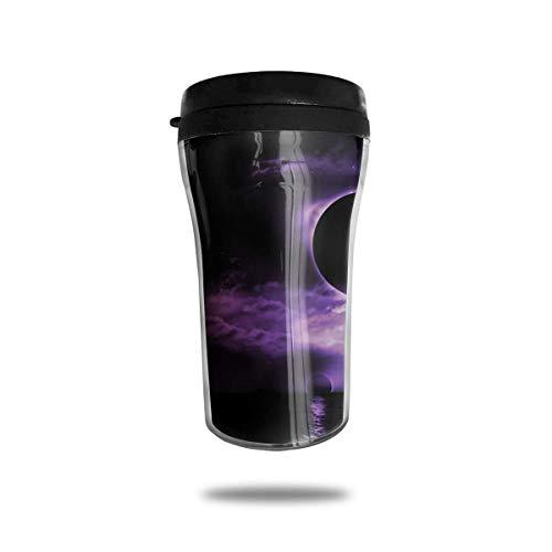 Wärmeisolierung Wasserflaschen Fantasy Purple Moon Reise Tumbler Mug Cup W/Deckel isoliert heiß oder kalt