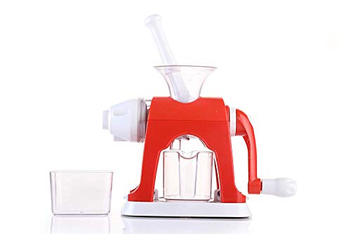 Magikware Advance Fruit & Vegetable Hand Juicer Mixer with Waste Collector, Green (Better Preformance)