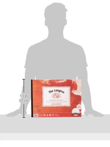 Daler-Rowney Langton Zeichenblock, heißgepresst, geleimt, 40,6x30,5cm, 300g/m²