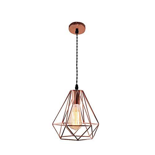 Iluminación Colgante Diamante para Techo Lampara Vintage Casquillo E27 220V 40W Luz...
