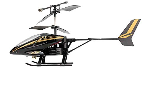 Braumz RC Hubschrauber, Alloy Remote Control Hubschrauber Mit Gyro Und LED-Licht Spielzeug Mit Fernbedienung Indoor Für Kinder Und Erwachsene Anfänger Geschenk,Schwarz