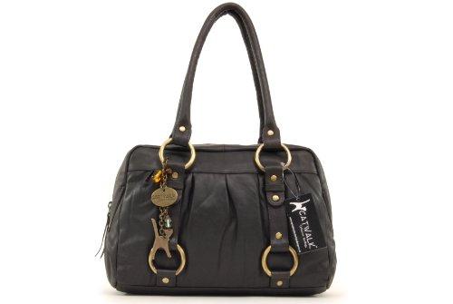 Catwalk Collection Handbags, Borsa con manici, Donna Marrone Scuro