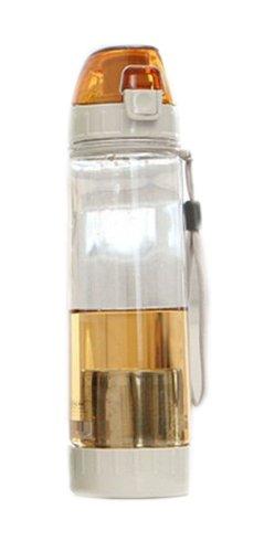 Orange Filter Sport-Wasserflasche Narrow Mouth Wasserkaraffe, 21-Unzen-