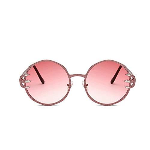 Sonnenbrillen Mode Punk Style Wölfe Klaue Dekoration Retro Runde Sonnenbrille für Männer und Frauen Coole Metallrahmen Sonnenbrille Unisex UV Schutz PC Objektiv Sonnenbrille für das Fahren von Reisen.
