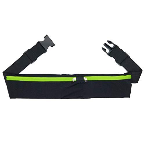 DAKERTA Bauchtasche Sport für Damen und Herren Gürteltasche Flach Hüfttasche Sporttasche Outdoor Laufgürtel Waist Bag mit Kopfhöreranlass für Camping Wandern Fitness Fahrrad Reisen