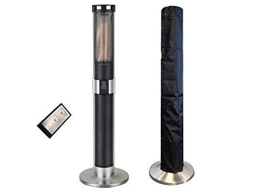 Traedgard® Chauffage infrarouge électrique, List (64630), pour terrasse avec télécommande