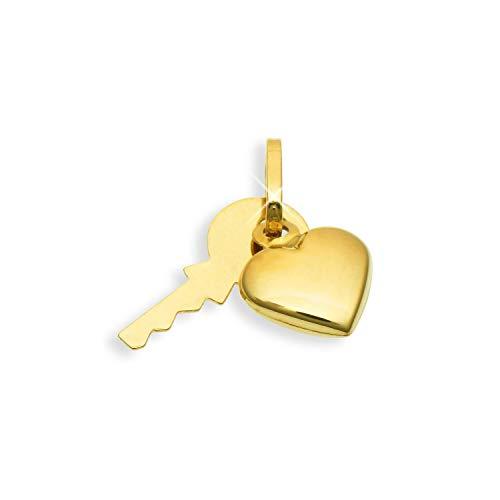Schlüssel & Herz Charms Bettelarmband Anhänger 14 Karat Gold 585 (Art.211003)