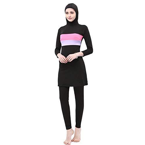 su-luoyu Damen Muslim Abaya Badeanzug Muslimische Badeanzug Muslim Islamischen Bescheidene Badebekleidung, Modest Swimwear Beachwear Burkini für muslimische Frauen (Ganzkörper Schwimmen Kostüm)