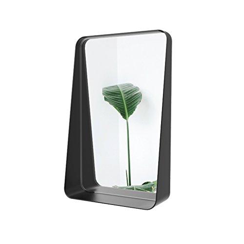 Specchio per il trucco yhz@ specchio per mensola da bagno in ferro battuto da parete in ferro battuto nordico