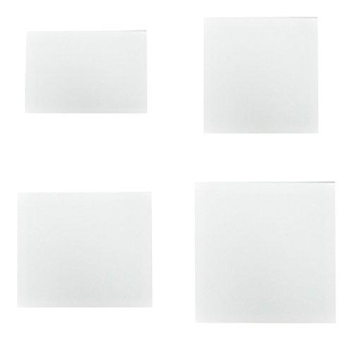Creleo 791445 Keilrahmen Set 4 verschiedene 18 x 24 cm, 20 x 20 cm, 20 x 30 cm, 30 x 30 cm -