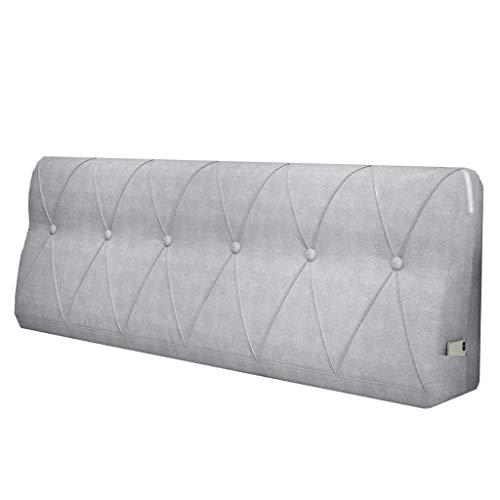 LPD-Stützbet Keilförmiges Bettkissen Bedside Rückenkissen Bettbezug Rückenkissen PP Baumwolle Füllung Waschbar (Color : A, Size : 200x15x60cm)