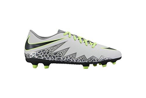 Nike Hypervenom Phade Ii Fg, Scarpe da Calcio Uomo Plateado (Pure Platinum / Black-Ghost Green)