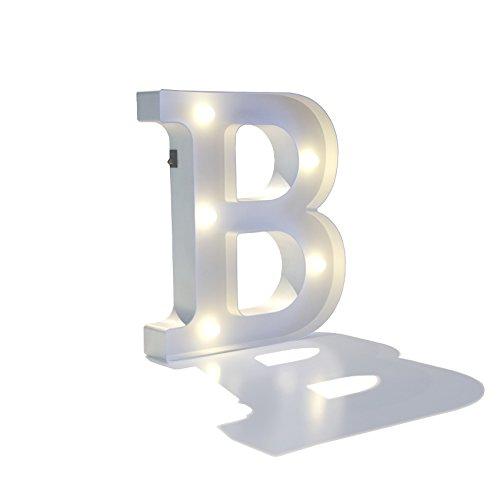 EUTOPICA Letra Decorativa Luminosa (B) - 30 cm Alto