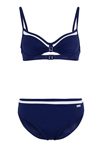 Lascana Bügel-Bikini mit Kontrastdetails Marine 42 (85) B